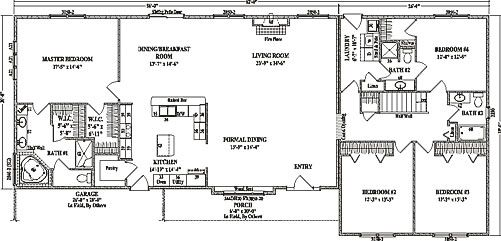 wardcraft homes fairview ranch floorplan for modular home buyers including building details