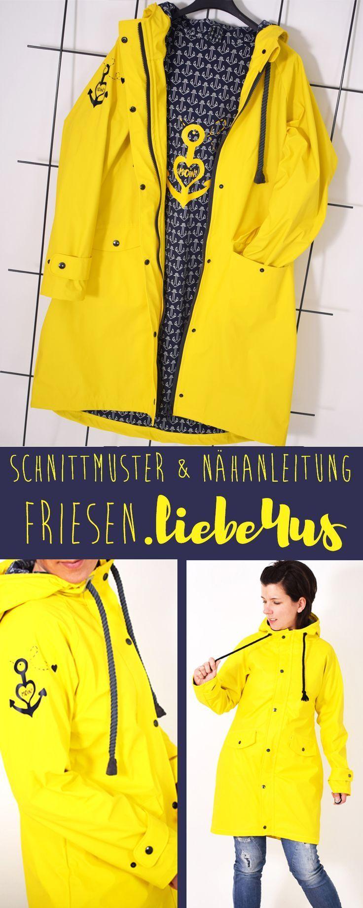 0fd2c7930485f FRIESENliebe4us • Regenmantel • Regenjacke • Nähanleitung + Schnittmuster •  leni pepunkt • nähen • sewing pattern • raincoat • jacket • Friesenliebe