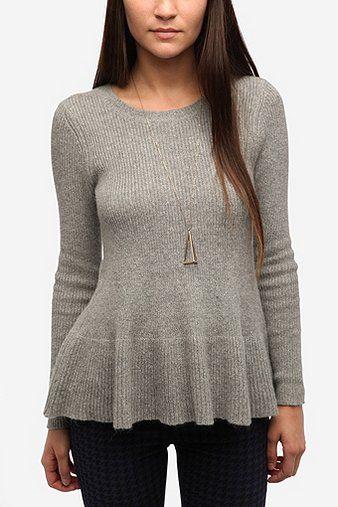 13fd98d70 Kimchi Blue Babydoll Peplum Sweater