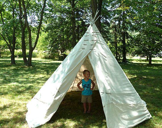 How-Tuesday: Backyard Teepee | Diy teepee, Diy teepee tent ...