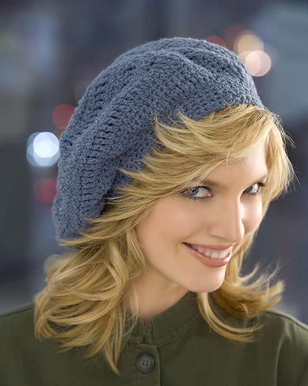 WR1789-Track-Stitch-Beret-optw | Crochet: Hats,Gloves | Pinterest ...