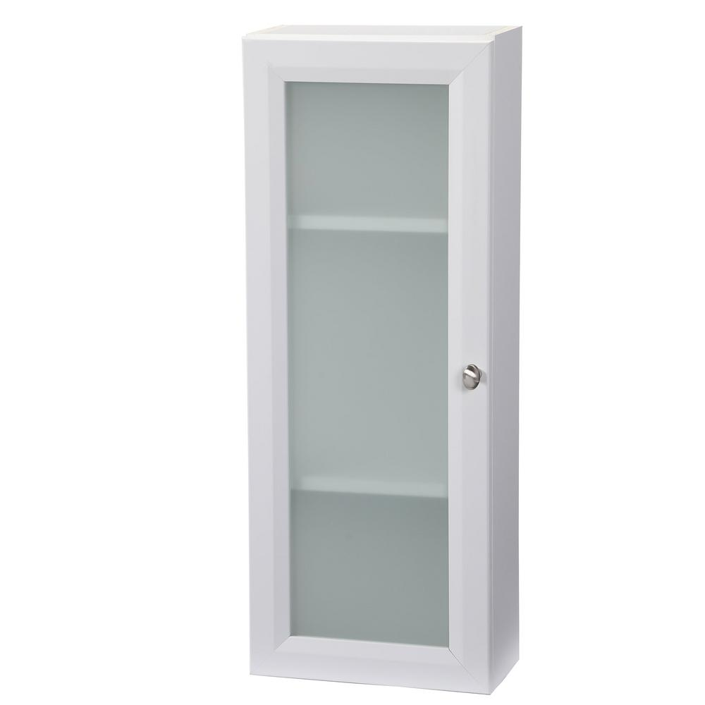 Glacier Bay Modular 12 In W X 31 In H X 6 In D Bathroom Storage Wall Cabinet In White H12fg Wht The Home Depot Bathroom Wall Cabinets Wall Cabinet Bathroom Storage