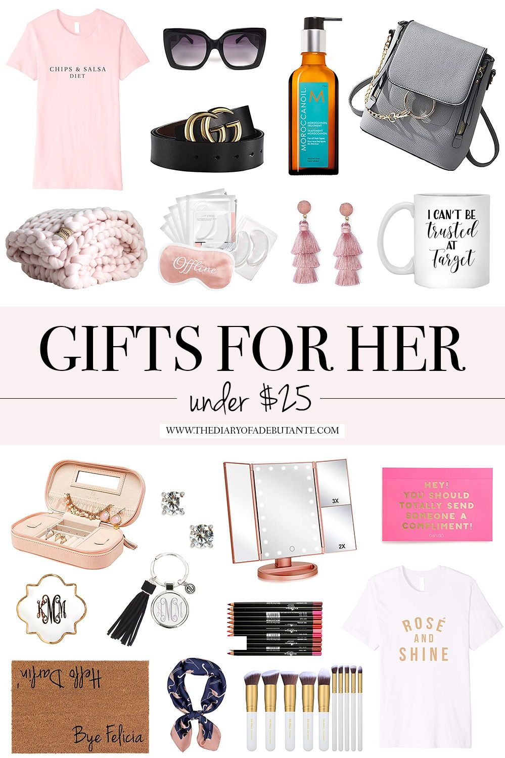 Cute Gifts For Her Under 25 Birthday Gifts For