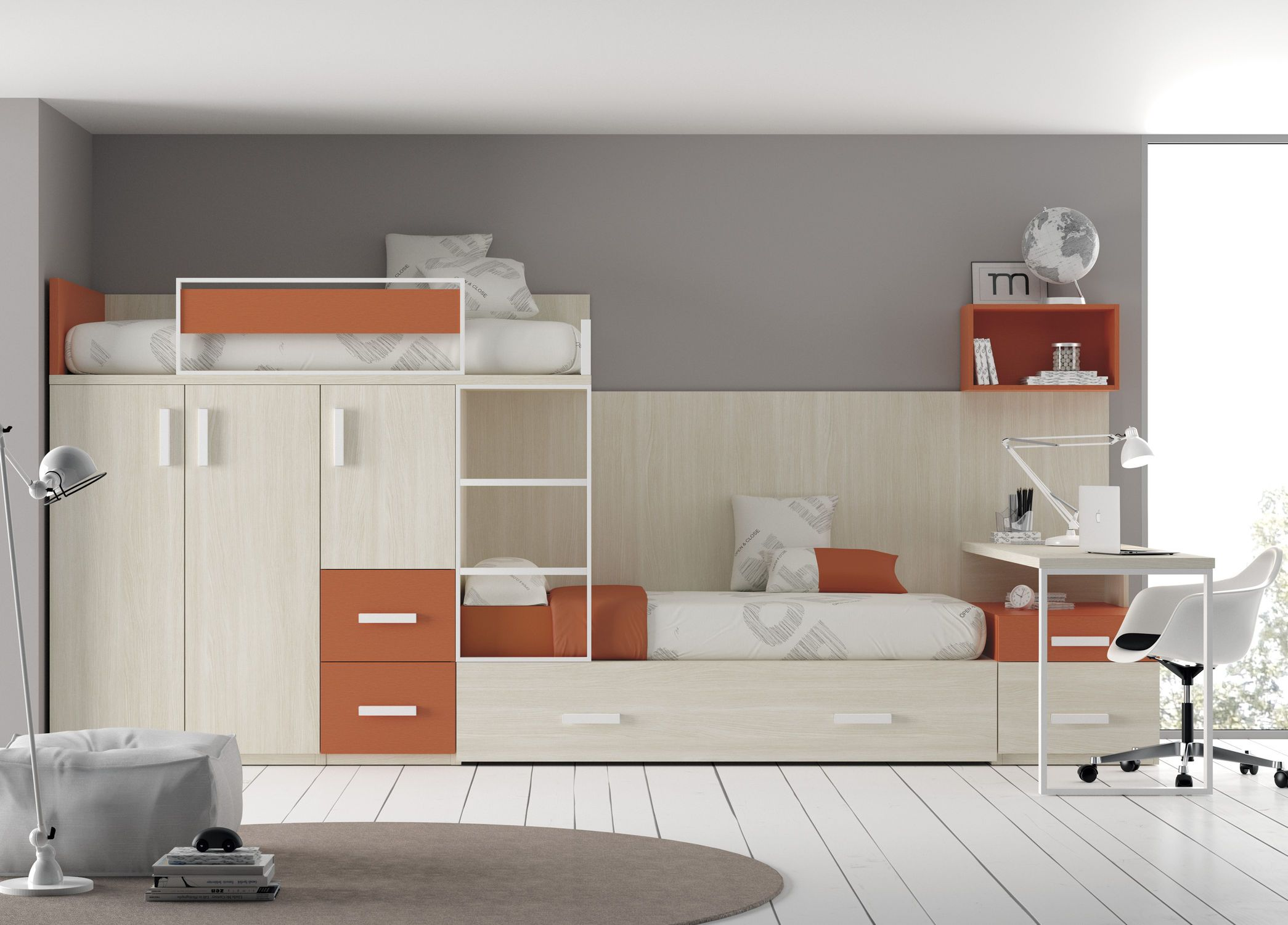 lit superpos avec rangements pour enfant fille touch 51 ros 1 sa lit superpos. Black Bedroom Furniture Sets. Home Design Ideas
