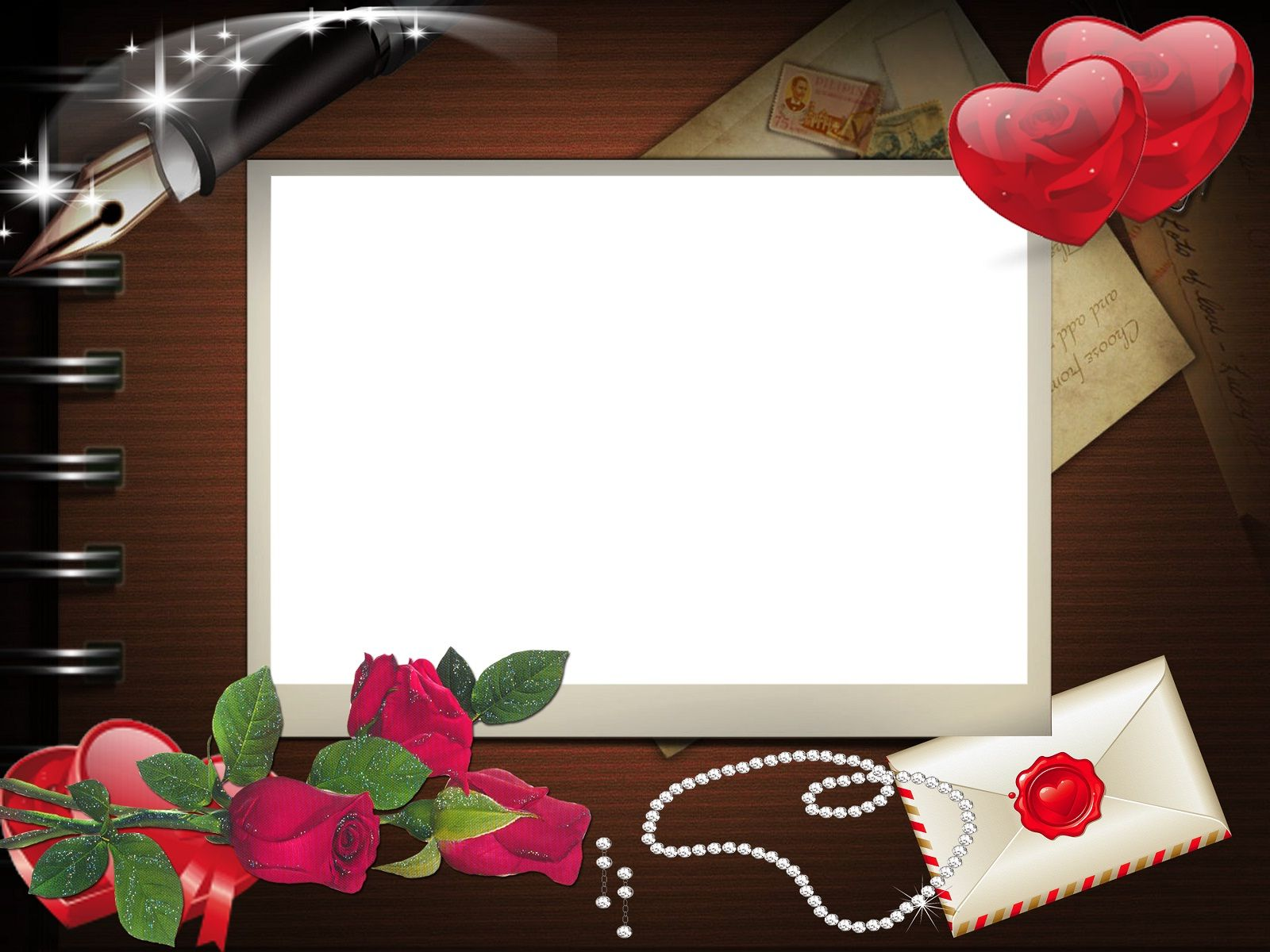 Attractive Love Card Beautiful Frame | HD Wallpapers Rocks