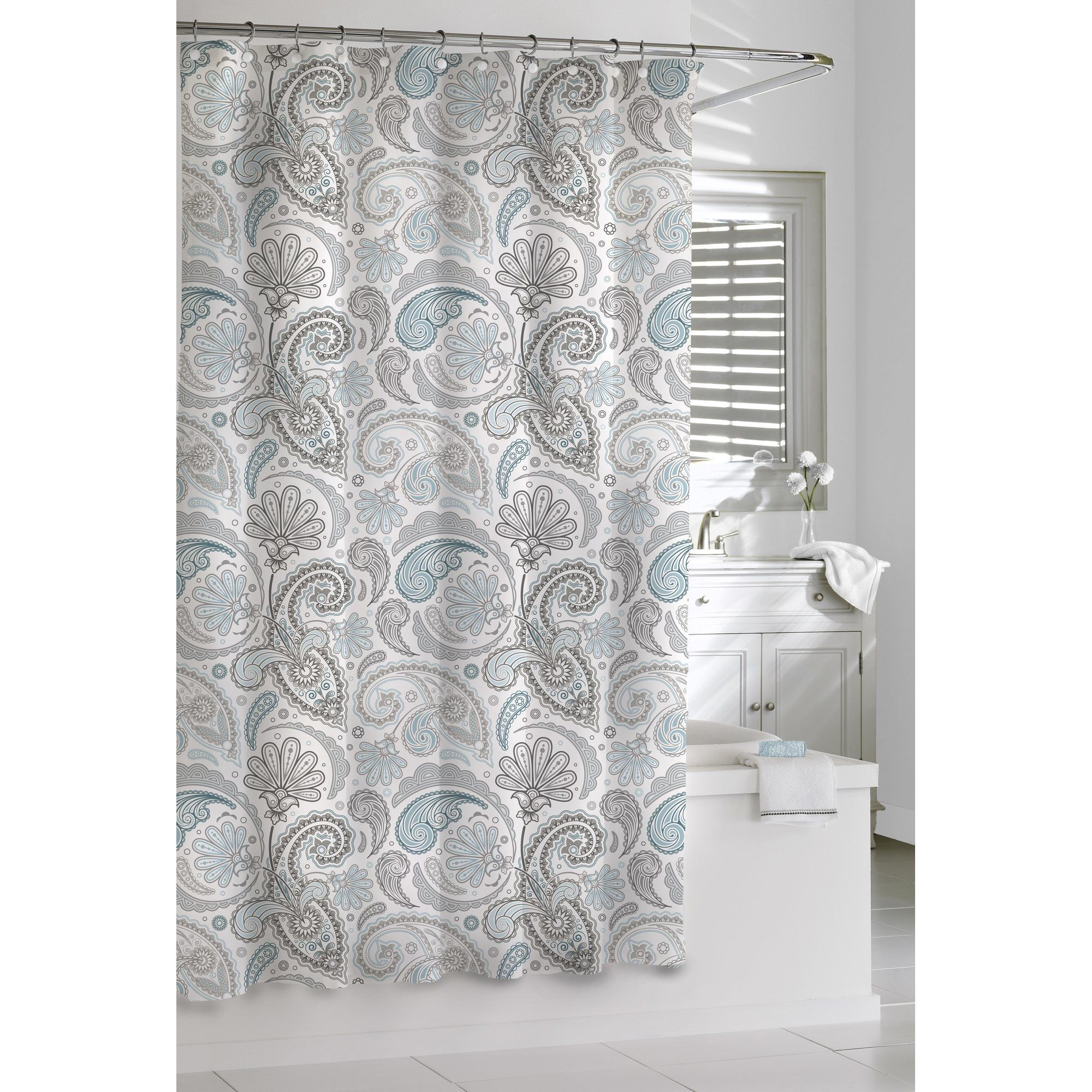 Red And Brown Paisley Shower Curtain