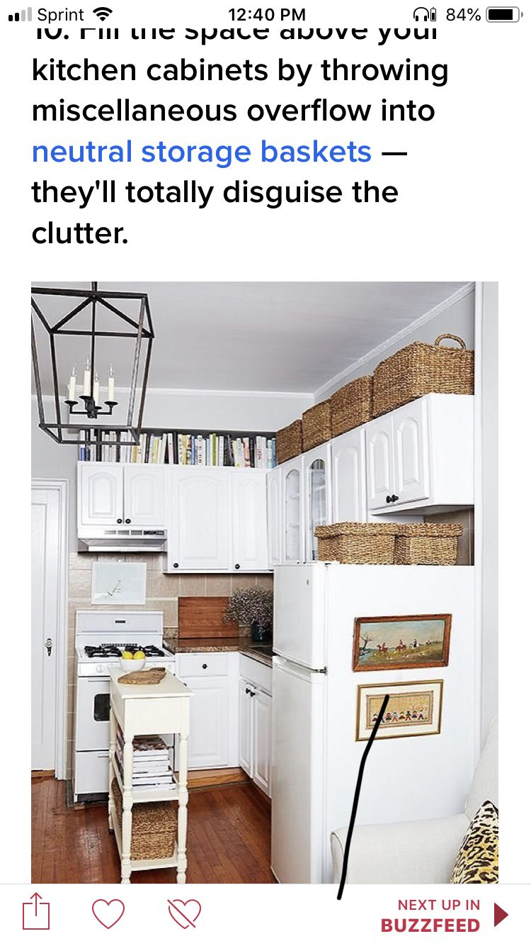 Pin by Cynthia Lindeman on Kitchen ideas | Above cabinets ...