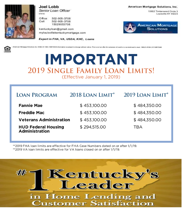 Va Loan Limits For All Kentucky Counties In 2019 Mortgage Loan