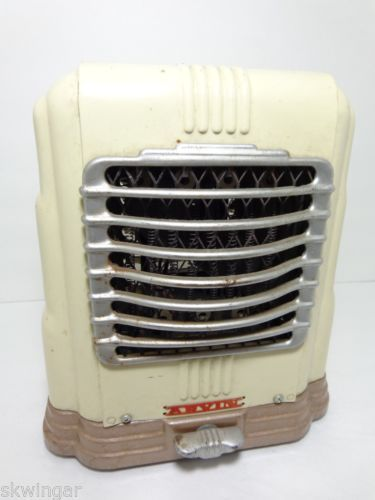 Art Deco Vtg 1930 40 S Arvin Portable Fan Heater Retro