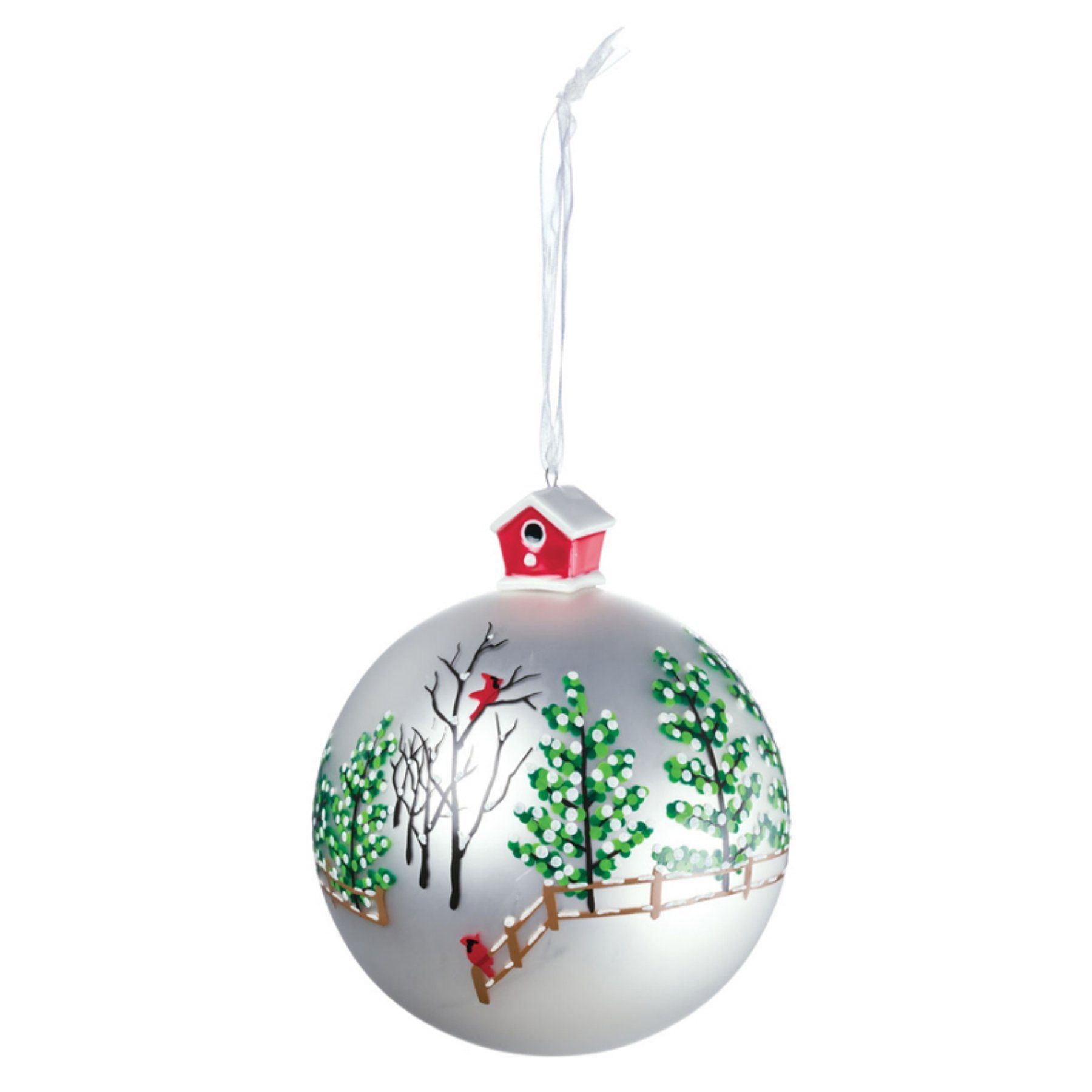 Hanukkah Christmas Ornaments.Sullivans Forest Scene Ball Ornament Products In 2019