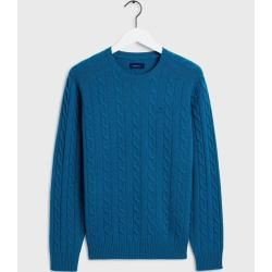 Photo of Gant Lambswool Pullover mit Zopfmuster (Blau) Gant