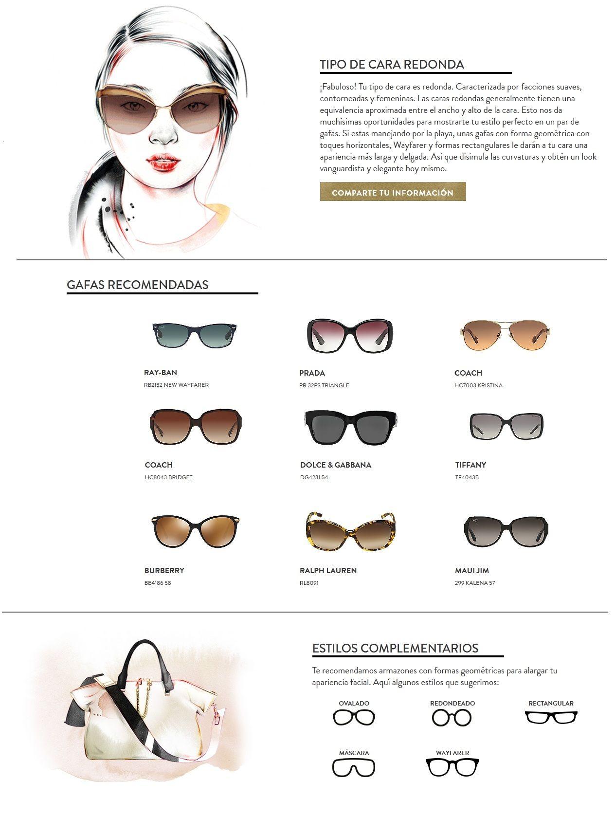 b87296207d Lentes segun cara redonda, sunglasses Anteojos Para Cara Redonda, Maquillar Cara  Redonda, Tipos