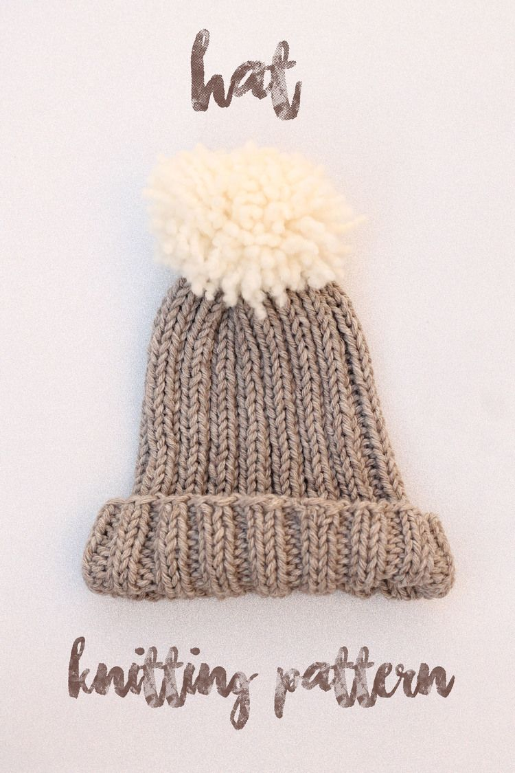 Free Hat Knitting Pattern See More Beginner Knitting Patterns That