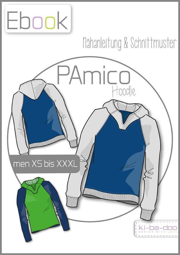 96636c0464 Viele Schnittmuster für Allemann. Ebook Raglan-Hoodie PAmico -  Schnittmuster und Anleitung als PDF, versandkostenfrei