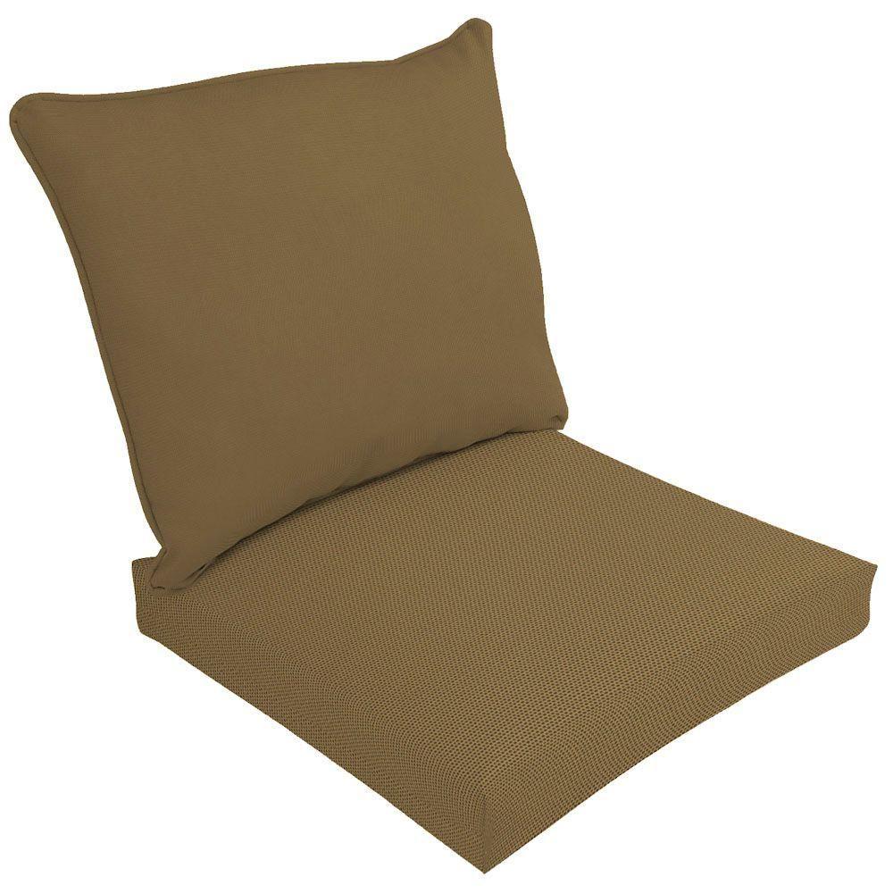 Sunbrella Canvas Cork Outdoor Deep Seat Cushion Set Lc03210b 9d4 The Home Depot Outdoor Deep Seat Cushions Deep Seat Cushions Deep Seating