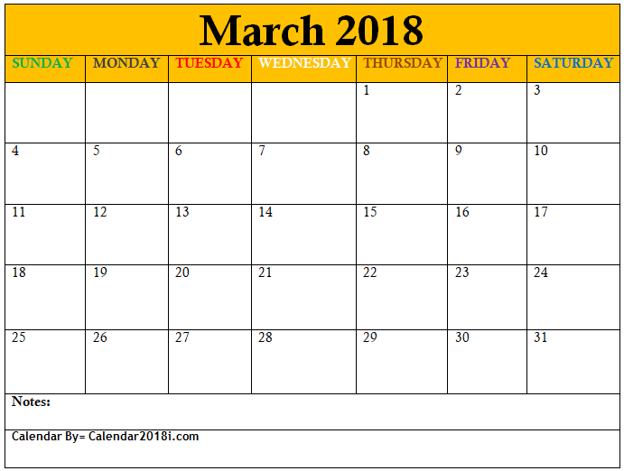 March Calendar Template Excel  Maxcalendars