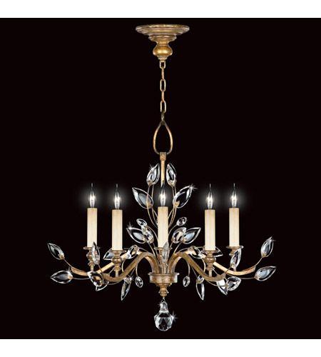 Fine Art Lamps 775840st Crystal Laurel Gold 5 Light 32 Inch Gold