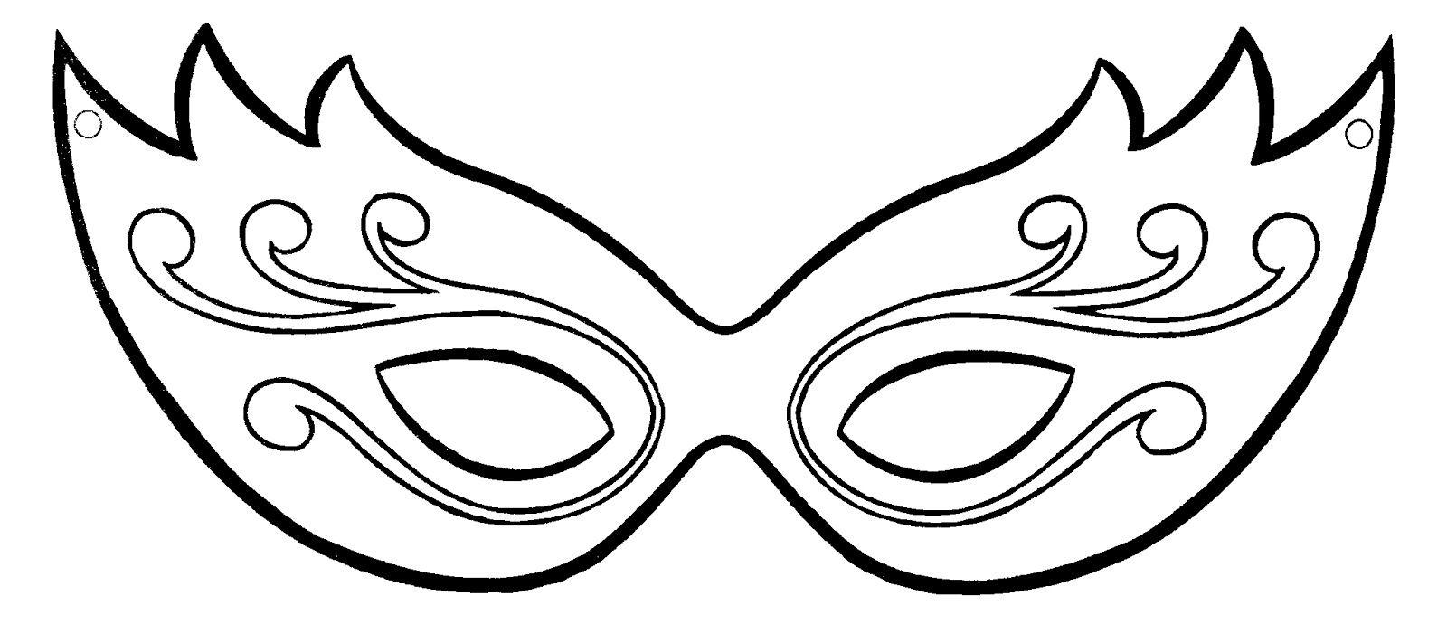 plantilla máscara veneciana craft carnival carnival masks
