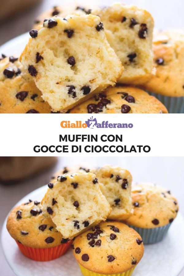 Ricetta Muffin Con Gocce Di Cioccolato.Muffin Con Gocce Di Cioccolato Ricetta Ricette Cibo Dolci