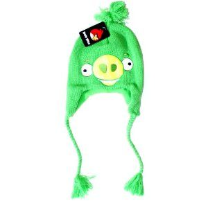#AngryBirds hat  (hears the song, 'you're the one that I want, you're the one that I want, woo hoo hoo)