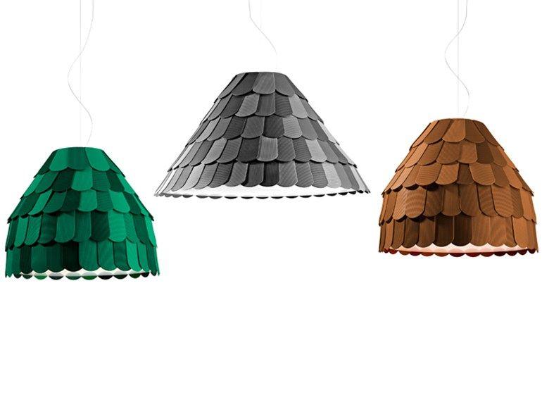 Lampada a sospensione in plastica ROOFER by Fabbian | design Benjamin Hubert