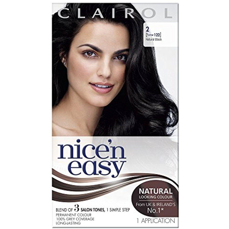 Clairol Nicen Easy Permanent Hair Colour 122 Natural Black