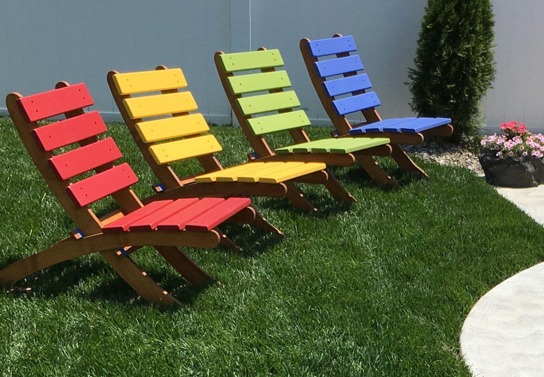 sillas jardin colores madera