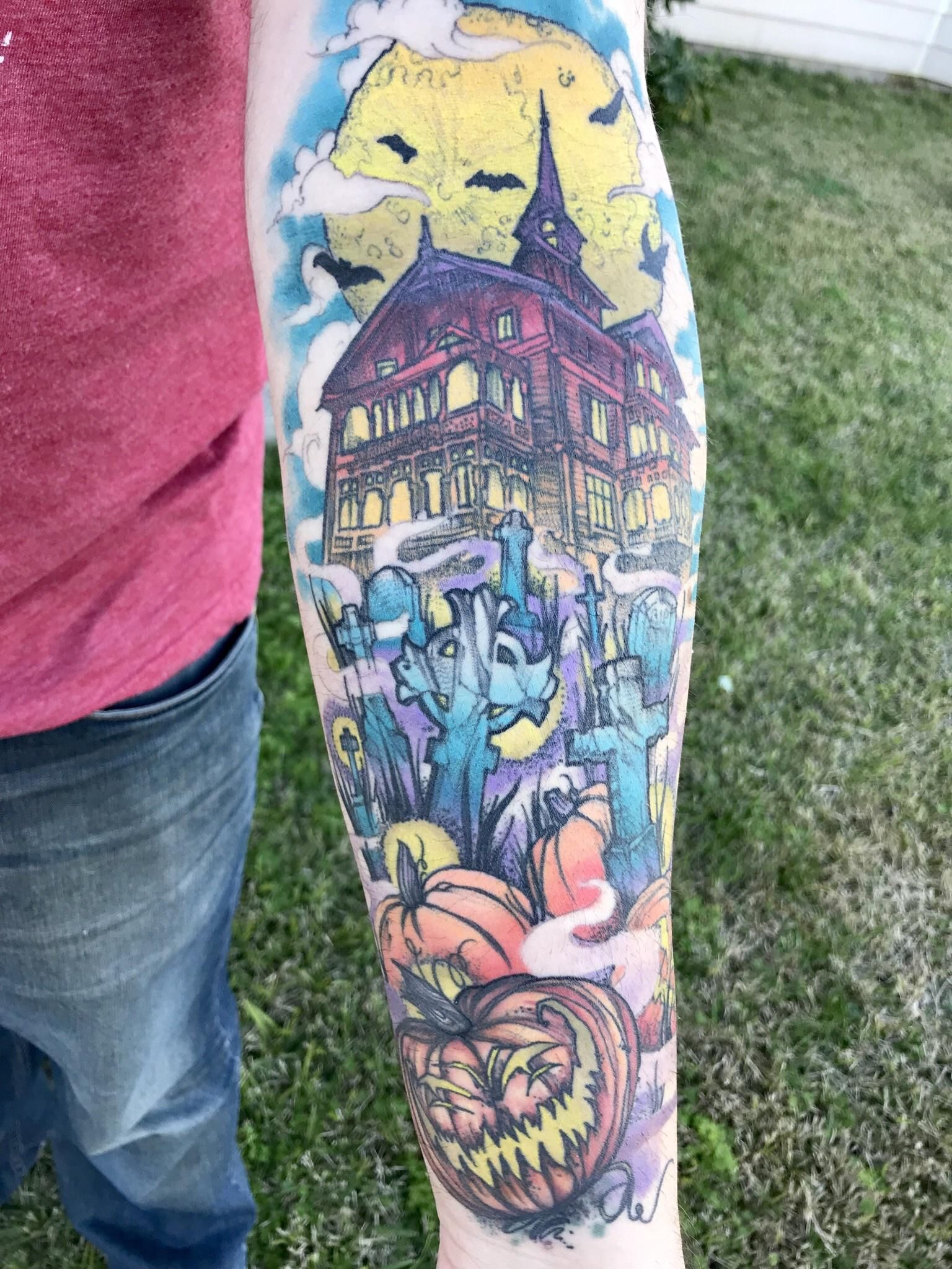 Haunted house done by kristina gray at mainline ink in