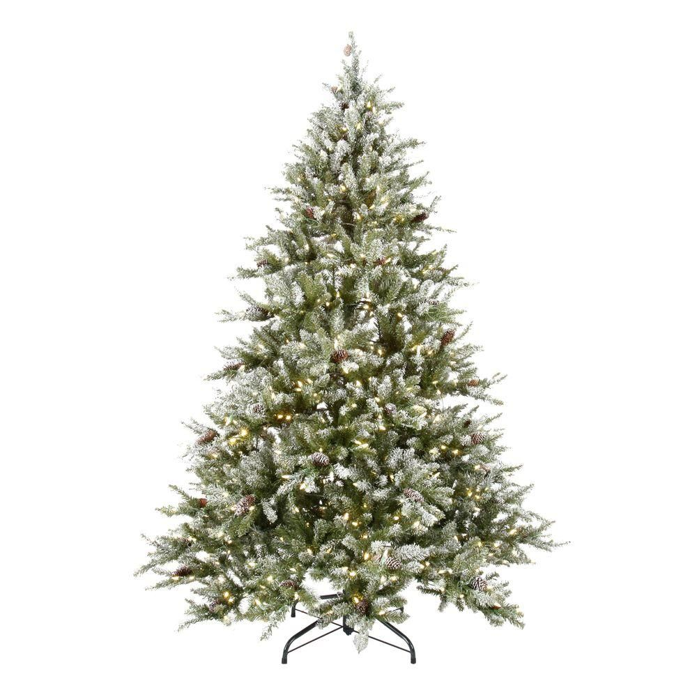 Martha Stewart Living 7 5 Ft Pre Lit Led Snowy Fir Artificial Christmas Tree With P Pine Cone Christmas Tree Holiday Decor Christmas Artificial Christmas Tree