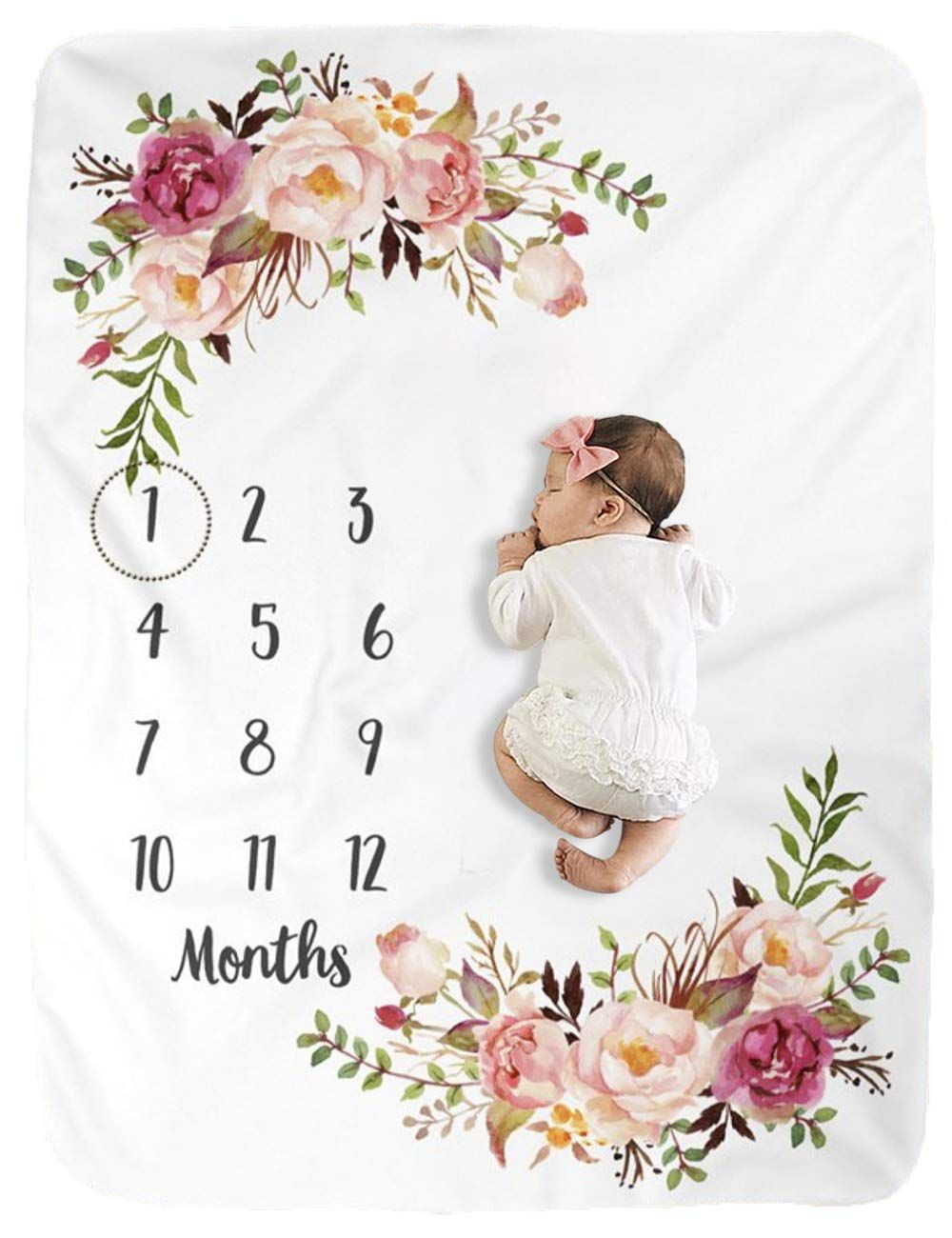 Baby Shower Gift New Baby Girl Gift Baby Girl Floral Blossom Milestones Baby Milestone Cards Baby Keepsake Baby Monthly Photo Cards