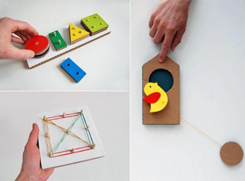 Amazing Diy Cardboard Learning Toys Handmade Charlotte Diy Cardboard Diy For Kids Craft Activities For Kids