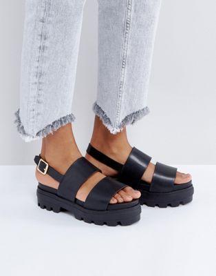 dc5cdc3589b ASOS FLAUNT Chunky Flat Sandals