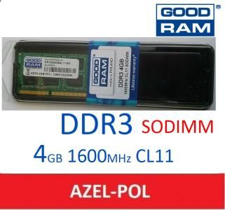 Goodram 4 Gb Sodimm Ddr3 Pc3 12800 1600mhz Cl11 Kitchen Appliances Electronic Products