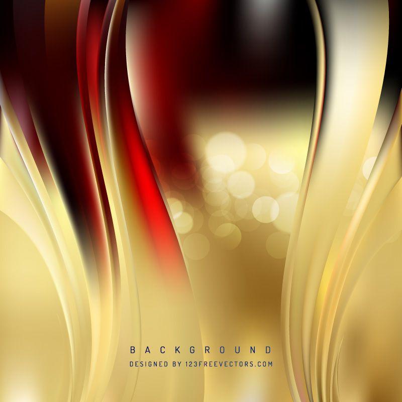 Dark Red Gold Wave Design Background In 2019 Wave Design