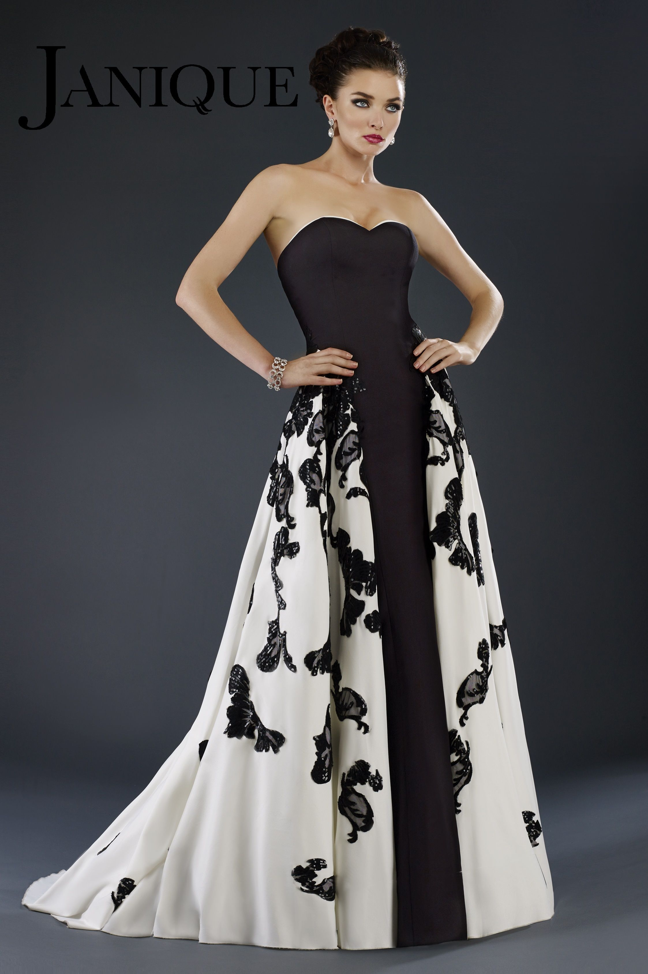 Janique W1376 2016 Dress Collection.Go for Hollywood glamour in the ...