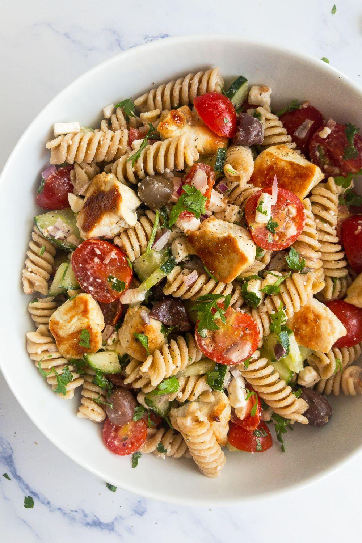 Greek Chicken Pasta Salad Recipe Healthy Pasta Dishes Healthy Chicken Salad Recipe Vegetarian Recipes Healthy