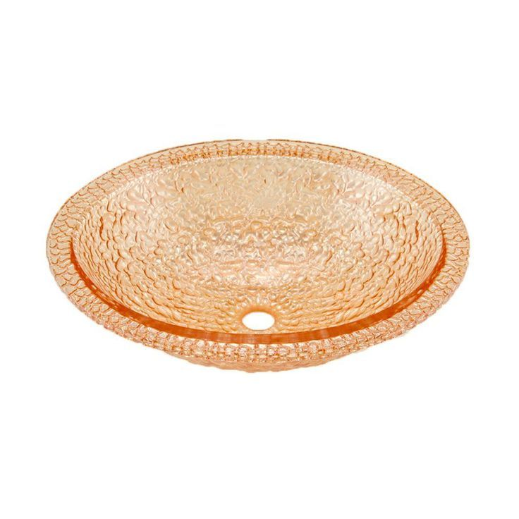 JSG Oceana Pebble Undermount Bathroom Sink in Champagne Gold with Overflow