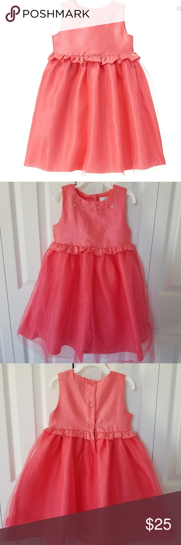 Gymboree Dressed Up Coral Party Dress 4t Gymboree Dresses Party Dress Dress Up [ 1740 x 580 Pixel ]