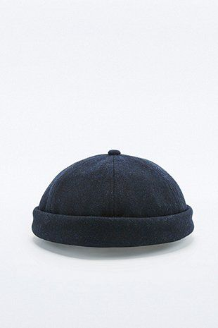 5891bc68417 Navy Melton Docker Hat