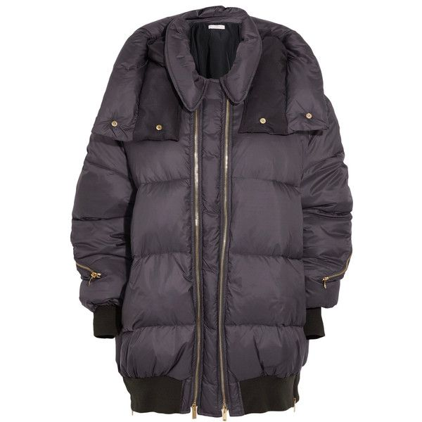 Stella McCartney Stella McCartney - Mietta Quilted Shell Hooded Jacket... (€1.240) ❤ liked on Polyvore featuring outerwear, jackets, insulated jackets, stella mccartney, galaxy print jacket, feather jacket and shell jacket