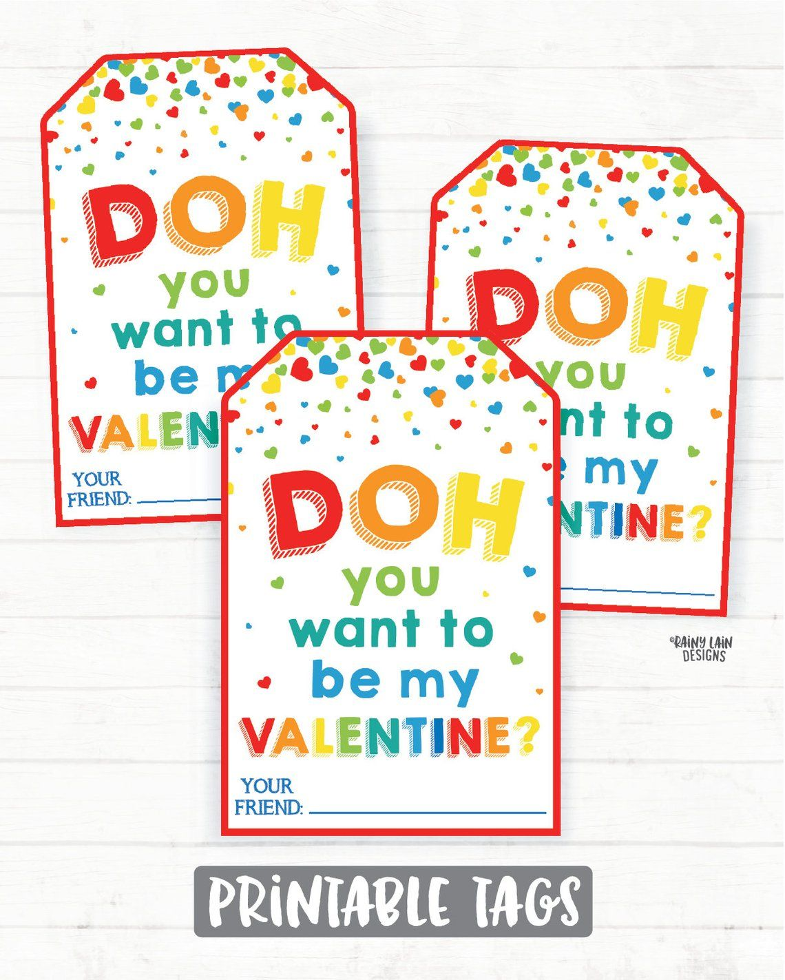 Doh You Want To Be My Valentine Boy Playdoh Valentine