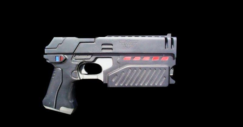 futuristic pistol cd projekt red pitch references
