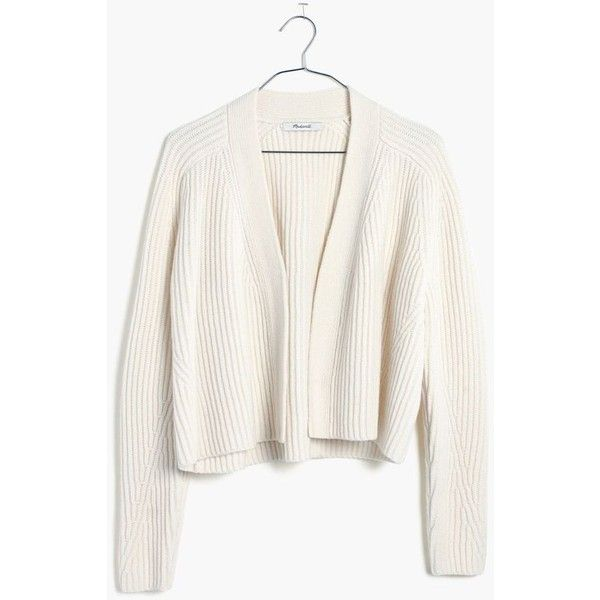 MADEWELL Crop Cardigan Sweater ($90) ❤ liked on Polyvore ...