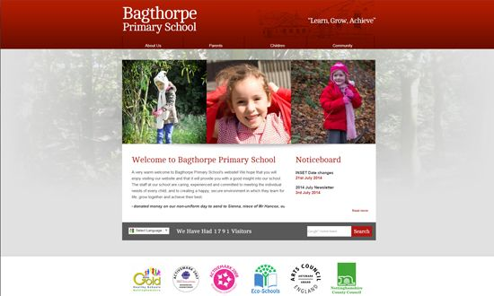 Bagthorpe Primary | Formal Design | Pinterest | School websites ...