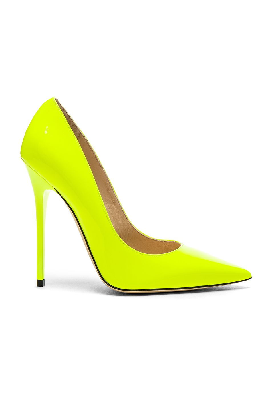 0e2e68bdbe2 Jimmy Choo Neon Patent Leather Anouk Heels in Shocking Yellow ...