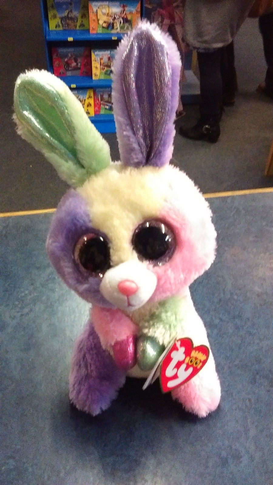 f1d81764f7d TY Beanie Boo Plush - Bloom the Bunny 15cm (Easter Special 2015) - Limited