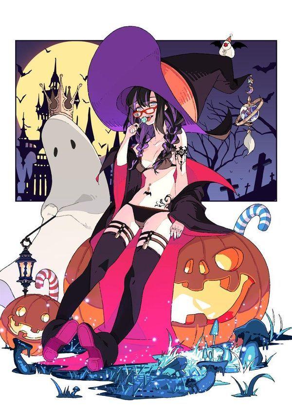 Halloween Sorcière Citrouille Dessin mochitaro0629