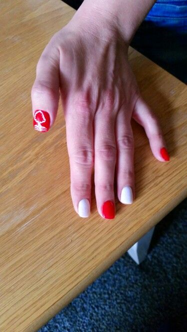 Nottingham forest football nails my nail art pinterest nottingham forest football nails prinsesfo Gallery