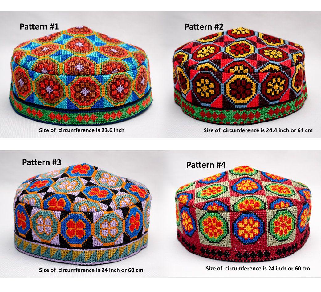 Colorful Bright Uzbek Duppi Cap Hat Skull Cap Kufi Hat Etsy Handmade Hat Embroider Hat Skull Cap