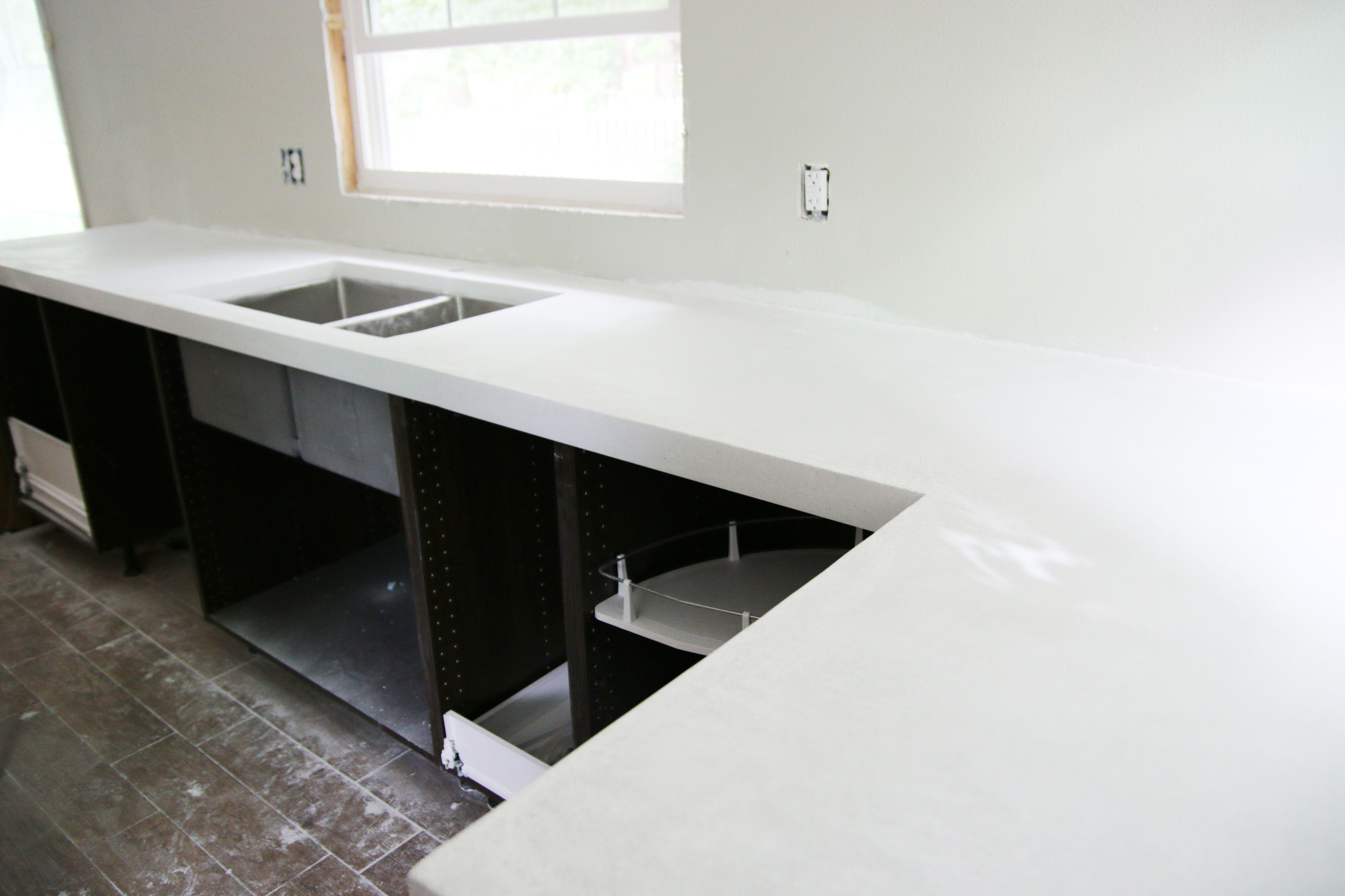 Concrete Countertop Over Laminate Diy White Concrete Countertops White Concrete Countertops